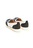 Туфли лоферы женские белые с черным Т1047, фото 8