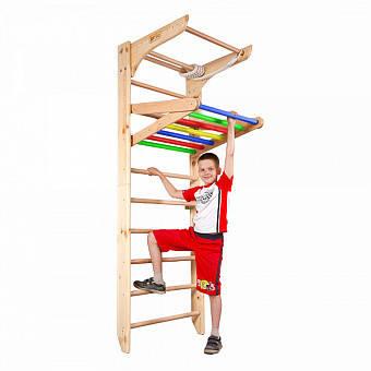 Деревянный детский спортивный уголок-трансформер от 2 лет SportBaby Разноцветный (Kinder 4-220)