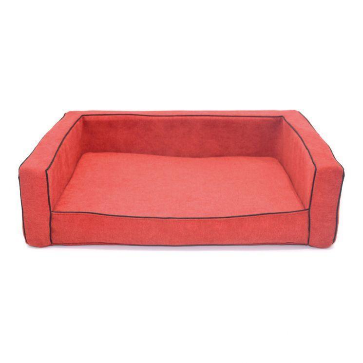 Диван Лори Мираж №6 80 х 120 х 25 см Красный
