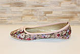 Балетки женские розовые в цветочек Т1038, фото 2