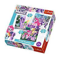 Набор пазлов Trefl 3в1  My Little Pony the MOVIE, 20 + 36 + 50 деталей, 34823