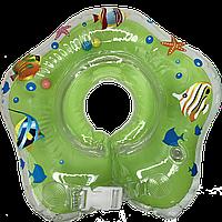 Круг для купания на шею зеленый