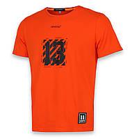 Футболка мужская оранжевая с принтом OFF-WHITE №13 Ф-10 ORN S(Р) 19-651-020-001