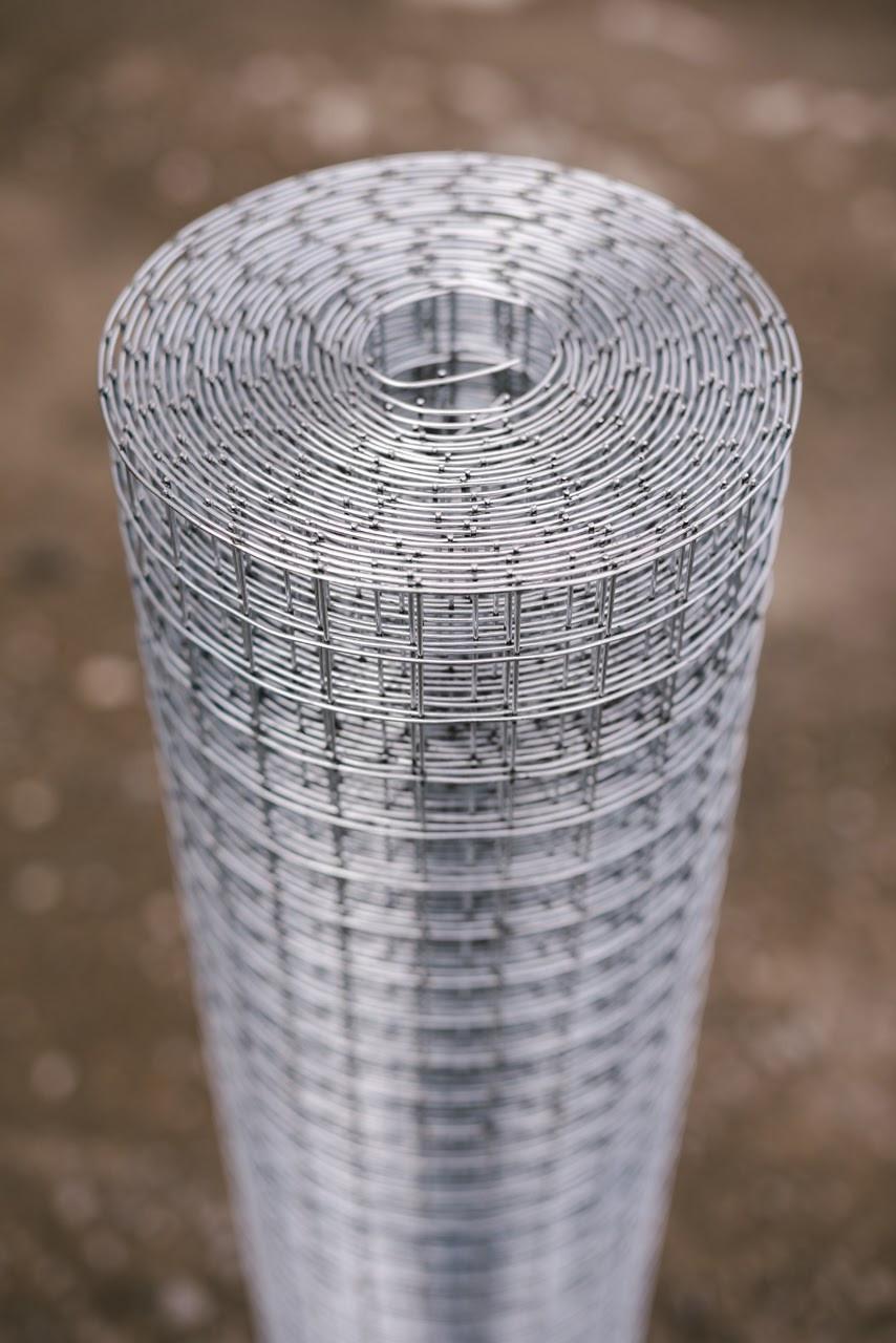 Сетка Сварная оцинкованная 25х12,5 мм Ø 1,4 мм высота 1 м рулон 30 м