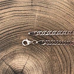 Серебряный браслет позолоченный Ромбик 6Р75з18расп недокаршен замок царапина длина 18 см ширина 4 мм вес 4.25г
