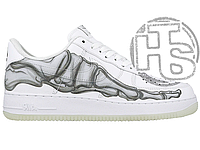 Женские кроссовки Nike Air Force 1 Low Skeleton Halloween White BQ7541-100