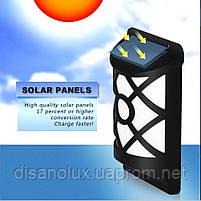 LED светильник настенный на солнечной батарее NL- 3W пламя (VS-109079) IP65, фото 3