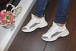 Кроссовки женские белые с сеточкой Т1056, фото 3