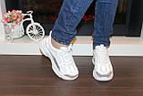 Кроссовки женские белые с сеточкой Т1056, фото 4