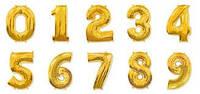 Шар цифра Фольга  золото (1 метр) флекс металл Испания