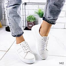 Кросівки жіночі білі. Кросівки жіночі з еко шкіри. Кеди жіночі. Мокасини жіночі. Кріпери, фото 3