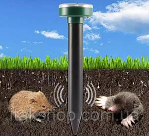 Ультразвуковой отпугиватель кротов, насекомых и грызунов Garden Pro (на солнечной батарее)