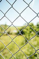 Сетка Рабица оцинкованная 50х50, диаметр 2.5мм, высота 1.20м, рулон 10 м
