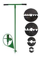 Бур садовый ручной БРЗ сталь 65Г 4 диаметра