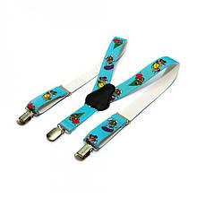 Детские Подтяжки Gofin suspenders С Черепашками Голубые (Pbd-15003)