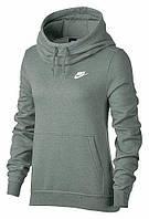 Толстовка женская Nike Womens Sportswear Funnel Neck Fleece серая 853928-365