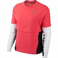 Толстовка женская Nike THERMA SPHR TOP SD красная AJ8671-850