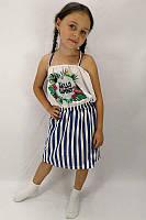 Летний детский сарафан в полосочку для девочки