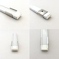 Крепление для LED профиля ЛП7 (LP7), YF102-2, 16х7 мм, 15х6 мм (клипса)