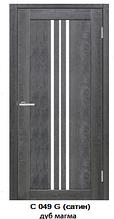 """Межкомнатные двери ECO Doors Smart С049 Дуб Магма """"Омис"""" экошпон со стеклом 60, 70, 80, 90 см"""