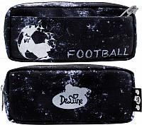 Пенал школьный DeLune D-855 мягкий для мальчика Футбол с мячиком мячом