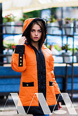 Женская куртка плащёвка на синтепоне , фото 3