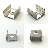 Крепление для накладного LED профиля ЛП7 (LP7), YF102-2, 16х7 мм, 15х6 мм (клипса)