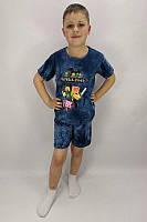 """Костюм футболка и шорты детский для мальчика """"Minecraft"""""""