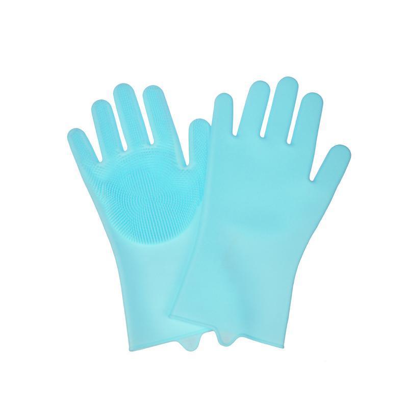 Силиконовые перчатки для мытья посуды, бирюзовый
