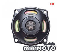 Колокол сцепления (метал) с звездой 6z T8F минимото, детский квадроцикл 50-60сс 2Т, фото 1