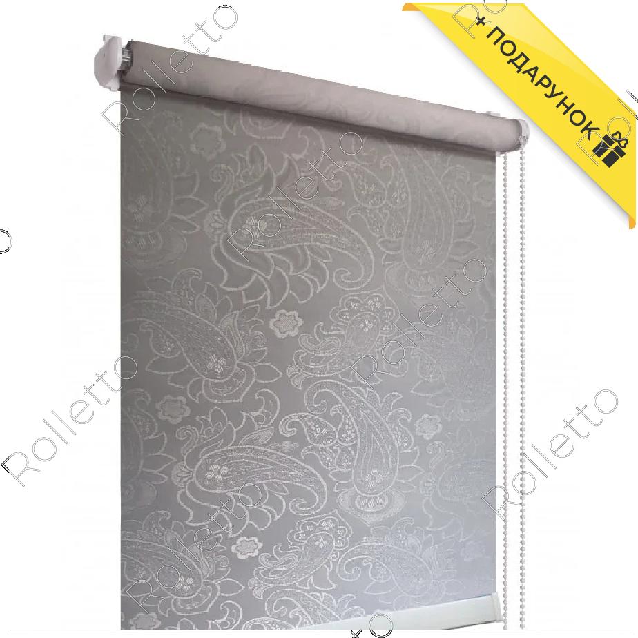Тканинні ролети відкриті, тканина Арабеска Z-1099