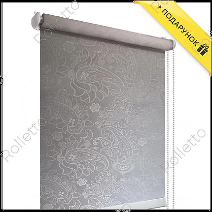 Тканинні ролети відкриті, тканина Арабеска Z-1099, фото 2