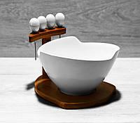 Салатник фарфоровый Naturel 375-387 550 со шпажками, фото 1