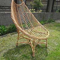 Плетеное кресло для отдыха из лозы большое
