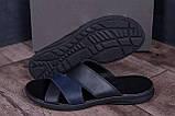 Мужские кожаные  летние шлепанцы-сланцы Е-series Biom  Blue (;), фото 7