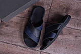 Мужские кожаные  летние шлепанцы-сланцы Е-series Biom  Blue (;), фото 10