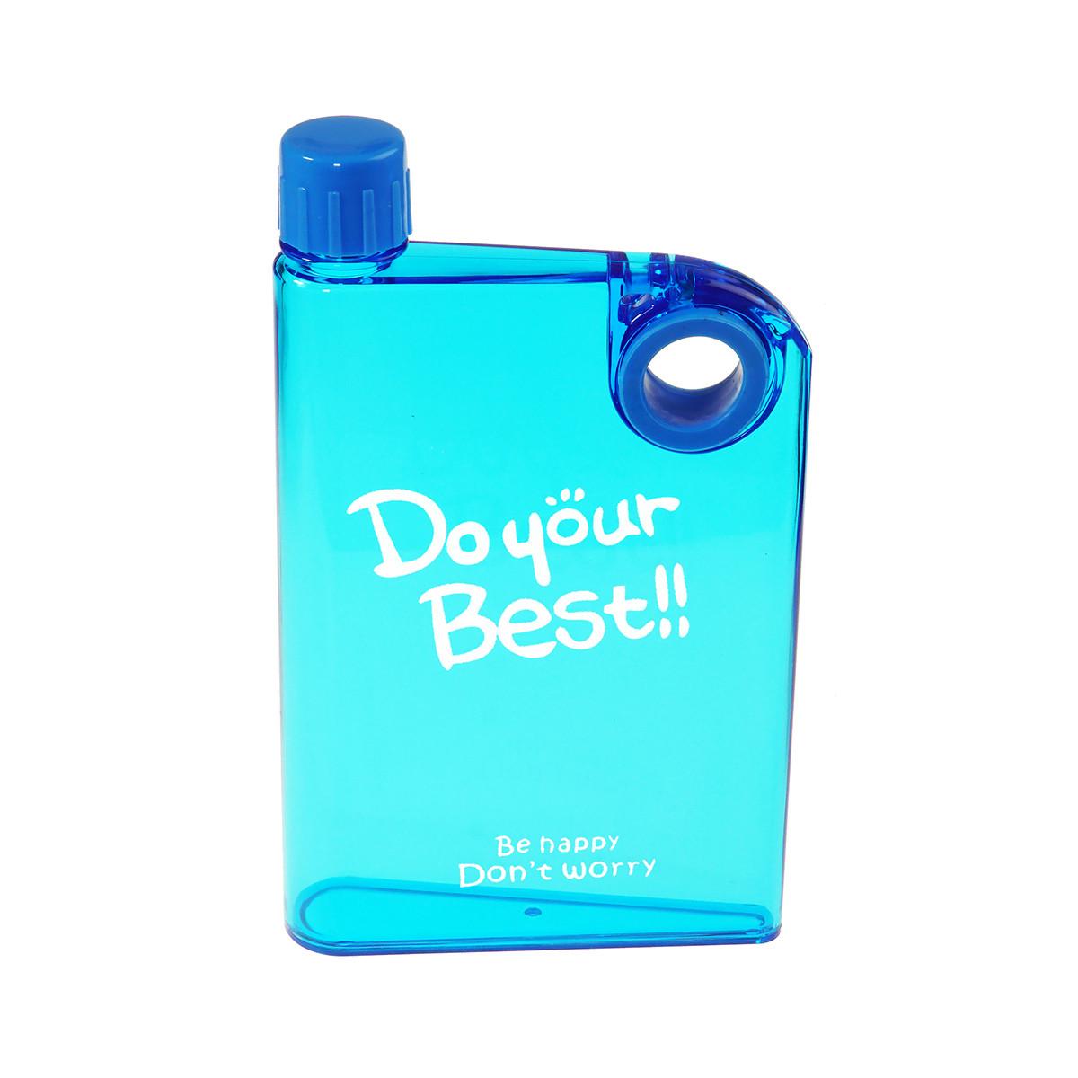 Портативная пластиковая фляга, цвет голубой