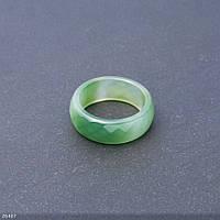 Кольцо из натурального камня граненное Агат зеленый h-9мм b-3,5мм d-19,20мм купить оптом в интернет магазине