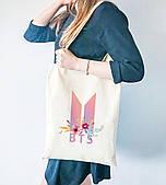 Эко сумка шоппер с принтом БТС (BTS)  (9227-1081)