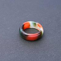 Кольцо из натурального камня Бразильский Агат гладкое h-9мм b-3мм d-19-20мм купить оптом в интернет магазине