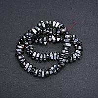Бусины Гематит галтовка d-9х12х5мм(+-) нитка L-39 см купить оптом в интернет магазине