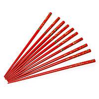 Палочки для суши красные с золотыми веерами 5 пар 05