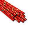 Палочки для суши красные с золотыми веерами 5 пар 05, фото 3