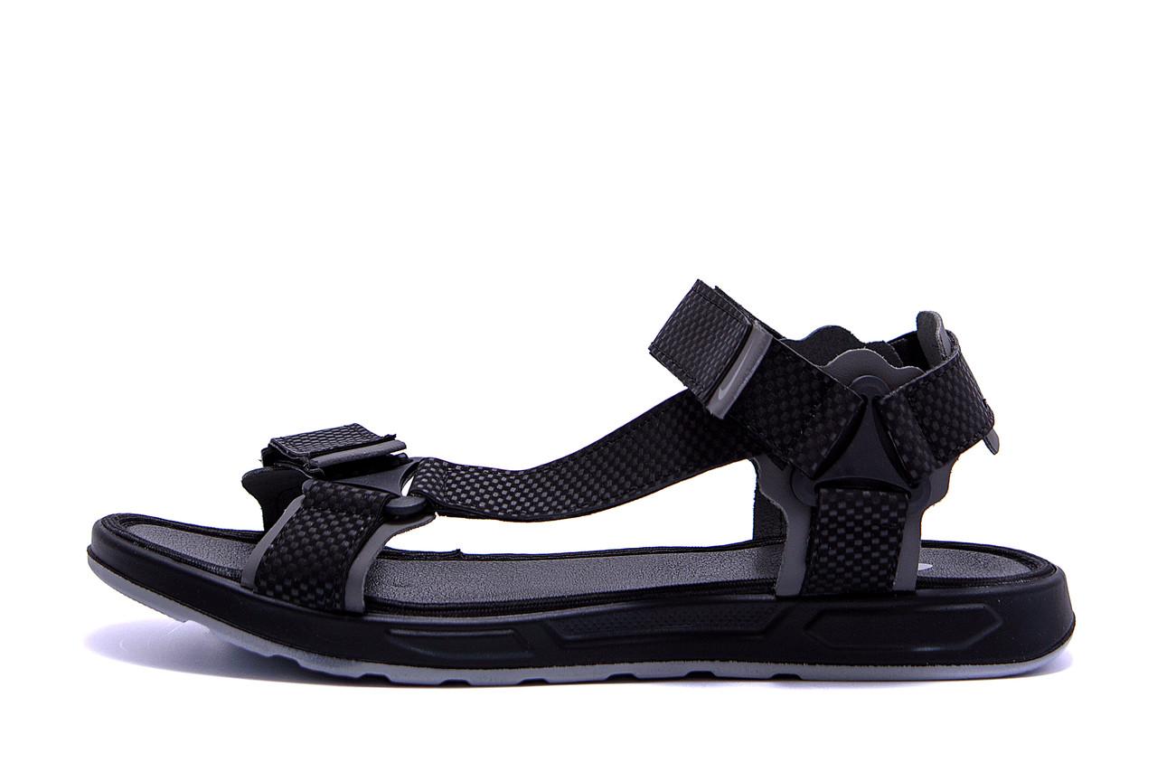 Мужские кожаные сандалии Nike Track Black .