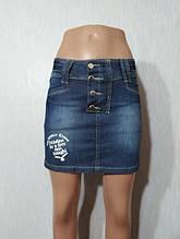 Синя джинсова спідниця Titleе молодіжна модель 25, 26 розмір
