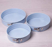 Набор рассоединенных форм для выпекания Kamille Marble KM6031 - 3шт