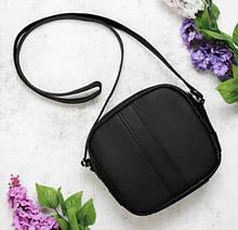 Вместительная женская черная сумка кроссбоди с длинным ремешком через плечо матовая экокожа