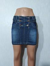 Синя джинсова спідниця Titleе молодіжна модель 25 розмір