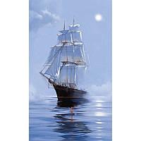 """Набір для творчості декупаж на полотні Морський пейзаж """"Під вітрилами"""" 20*40 см Идейка 94672"""