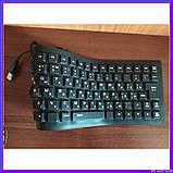 Силиконовая клавиатура черная, фото 2